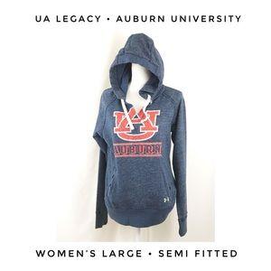 Auburn University Under Armour Hoodie Blue Orange